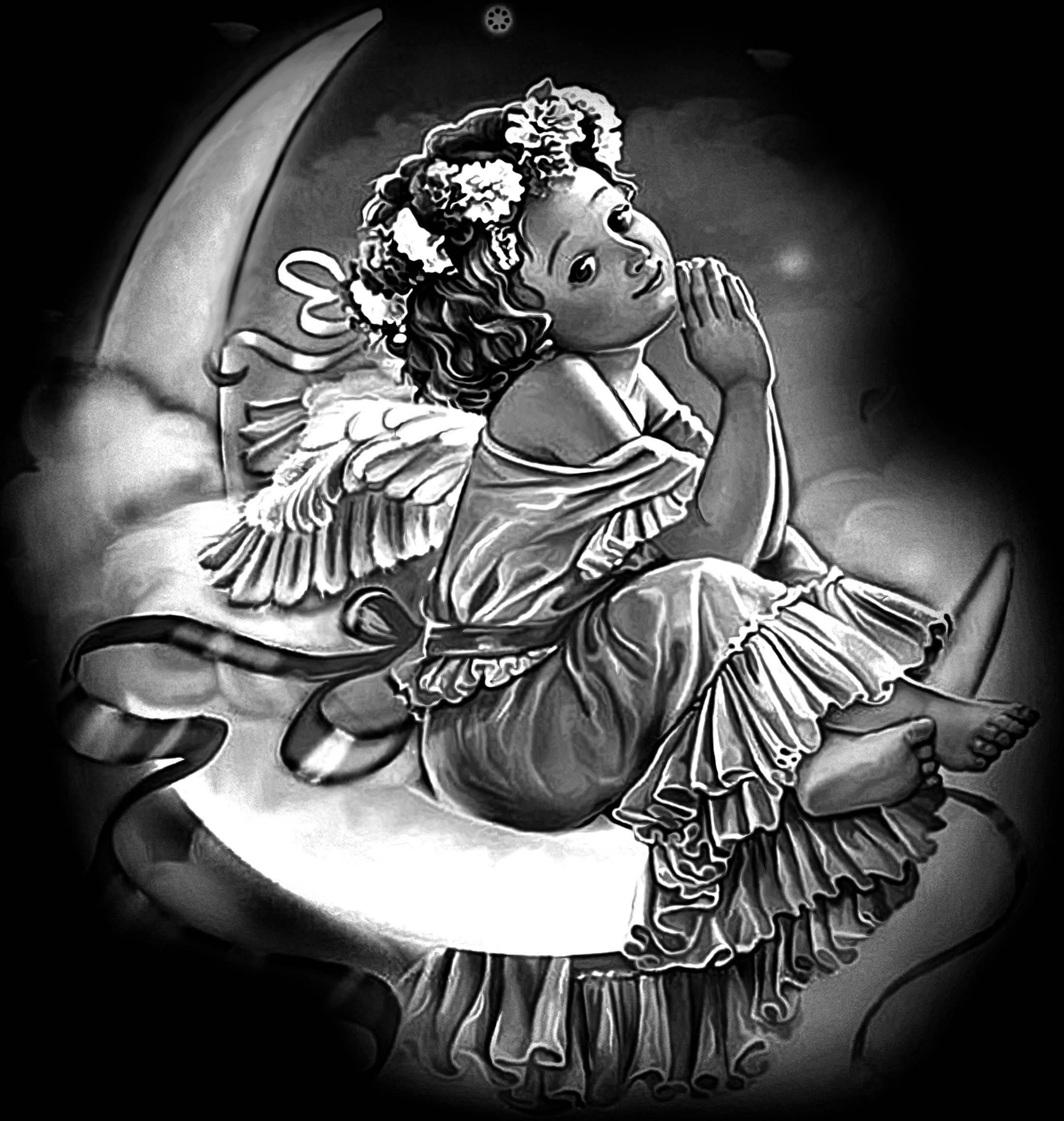 Гравировка ангелов картинки