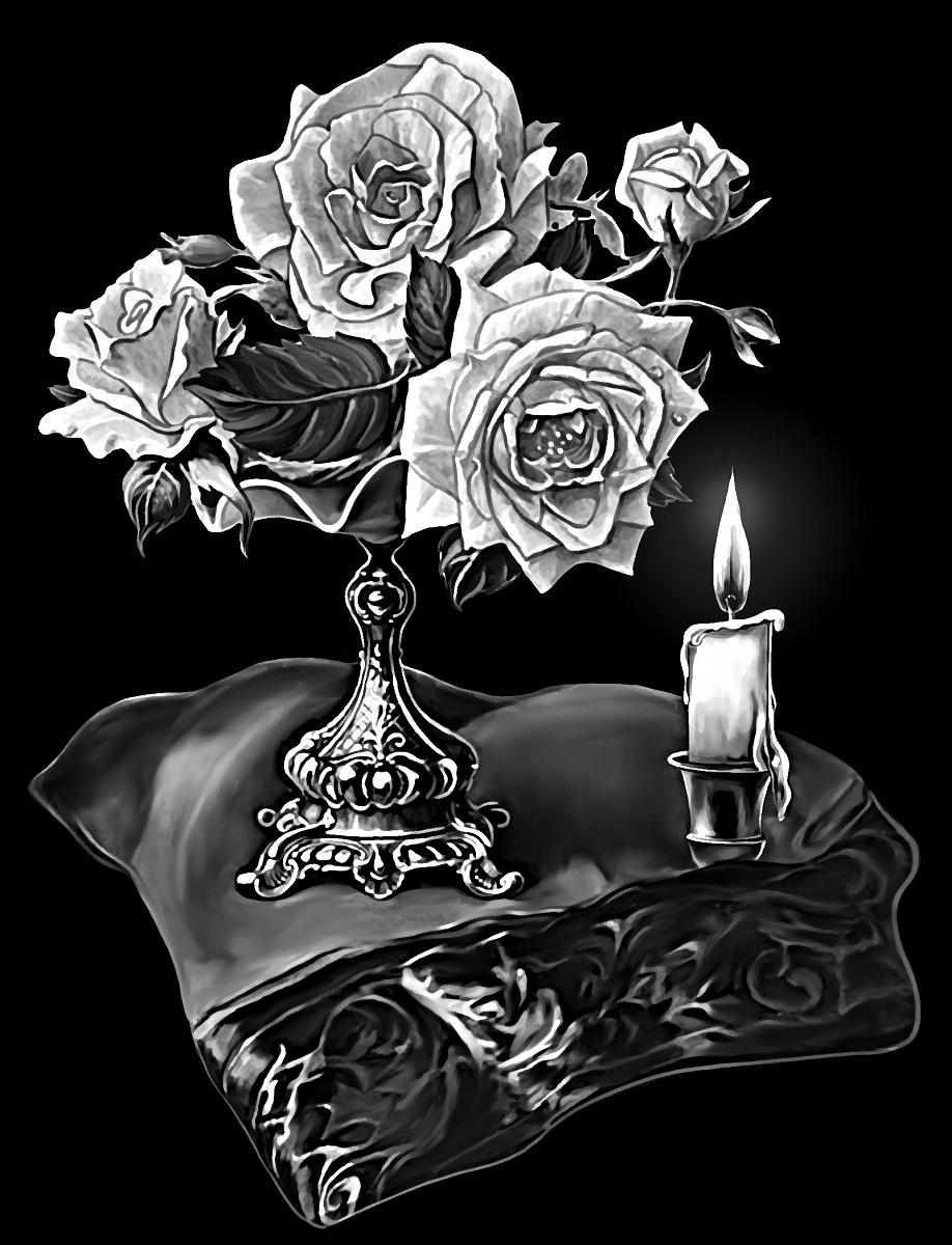 картинки цветов и свечей на надгробии обручальные кольца